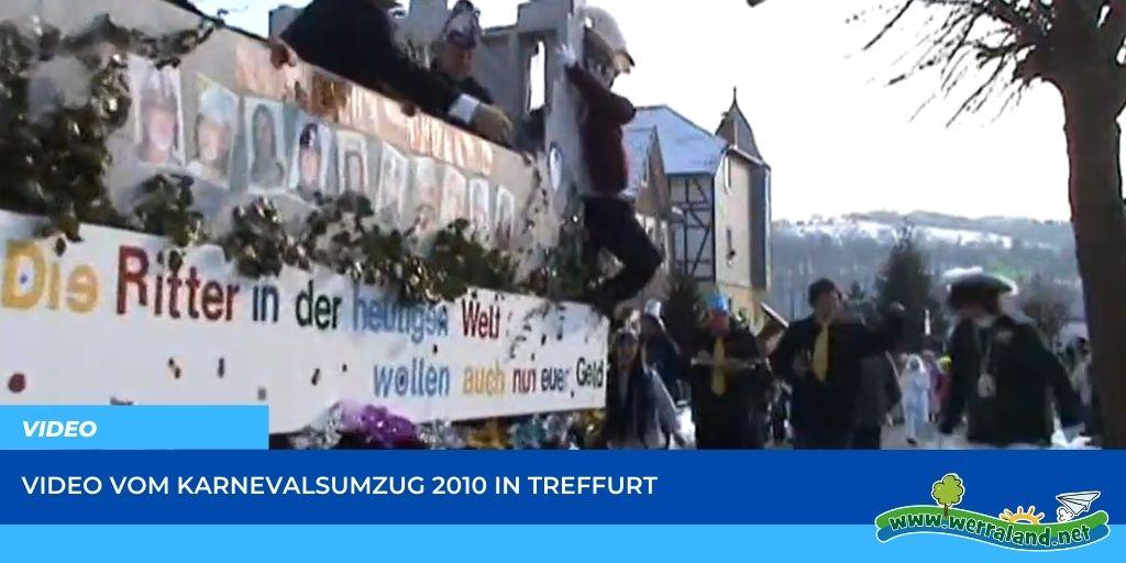 Read more about the article Werraland.net vor Ort – Video vom Karnevalsumzug 2010 in Treffurt