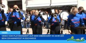 Read more about the article Werraland.net vor Ort – Video vom Platzkonzert auf dem Obermarkt beim Johannisfest 2011 in Eschwege