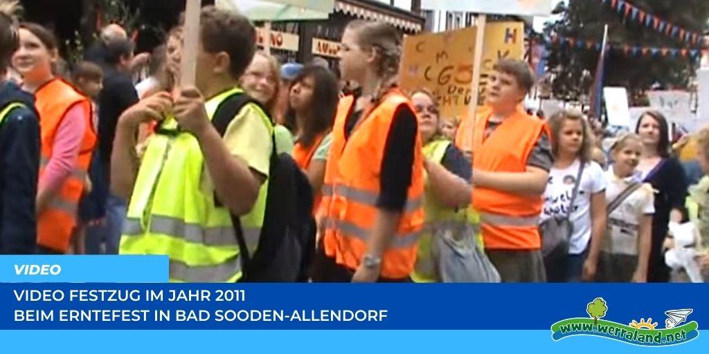 Read more about the article Werraland.net vor Ort – Video vom Festzug des Erntefestes 2011 in Bad Sooden-Allendorf